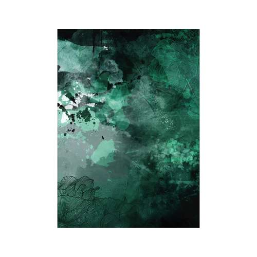 Abstract Green Poster