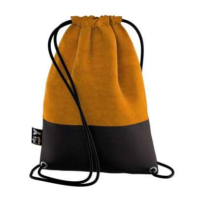 Kiddy Velvet backpack 704-23 mustard Collection Posh Velvet