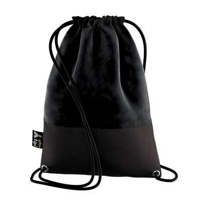 Worek plecak Kiddy Velvet 704-17 głęboka czerń Kolekcja Posh Velvet