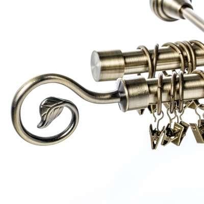 Karnizų komplektas dvigubas Doris 240 cm sendinto aukso sp. Karnizai - Dekoria.lt