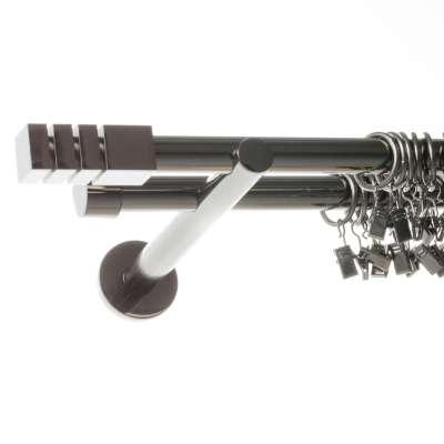 Karnizų komplektas dvigubas Nordic 160 cm titano sp. Karnizai - Dekoria.lt