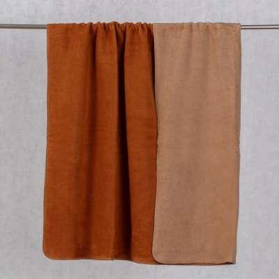 Cotton Cloud Blanket 150x200cm Beige&Cognac Blankets and Throws - Dekoria.co.uk