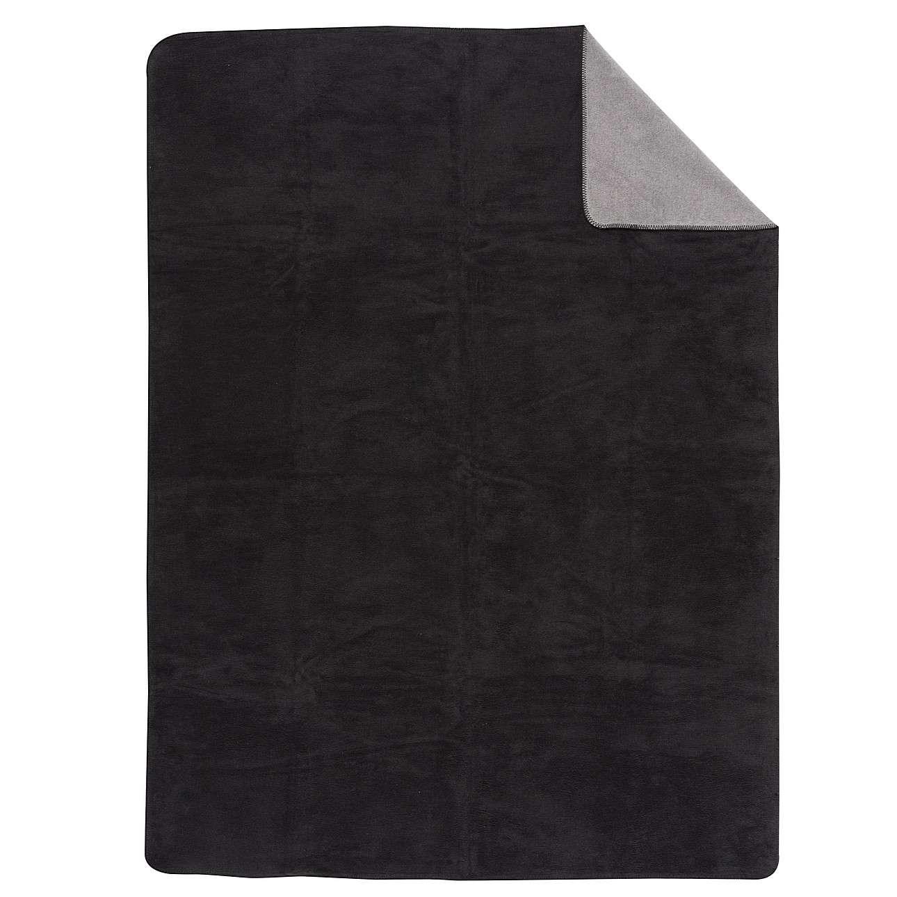 Plaid Cotton Cloud 150x200cm Black&Zinc