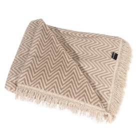 Kuscheldecke Cotton Cloud 150x200cm Beige Chevron
