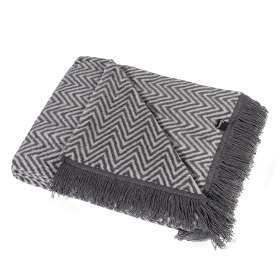 Kuscheldecke Cotton Cloud 150x200cm Grey Chevron