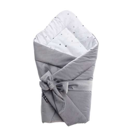 Velvet Nest Premium grey swaddle blanket
