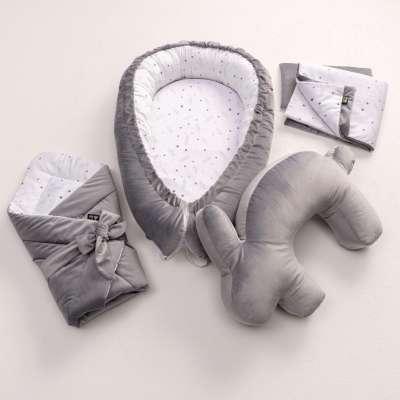 Kūdikio vokelis Velvet Nest Premium grey Vokeliai naujagimiems - Yellowtipi.lt