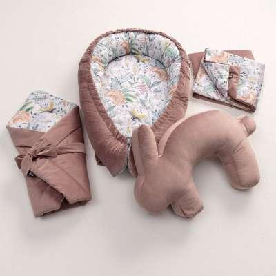 Steckkissen Velvet Nest Premium rose Babybett-Ausstattung - Yellow-tipi.de