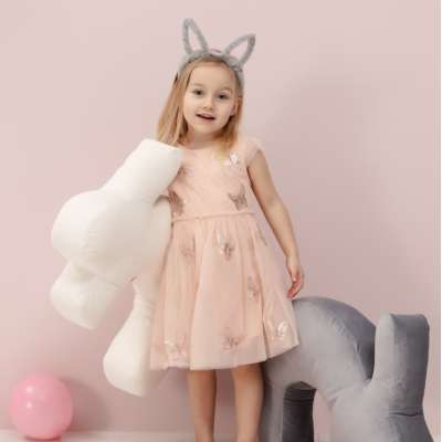 Velvet Bunny grey maitinimo pagalvė