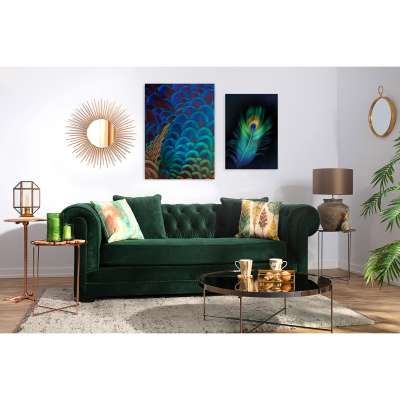 Canvasprint Multicolor Feathers
