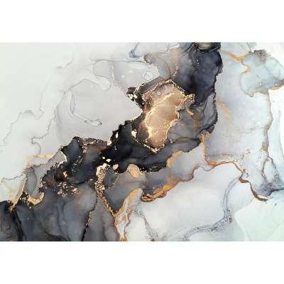 Obraz na płótnie Black&Gold Abstarction