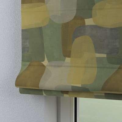 Roleta rzymska Bari 143-72 geometryczne wzory w zielono-brązowej kolorystyce Kolekcja Vintage 70's