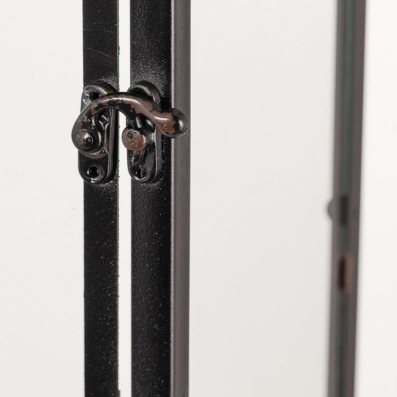 Laterne Colin Black 52,5x25x37 cm