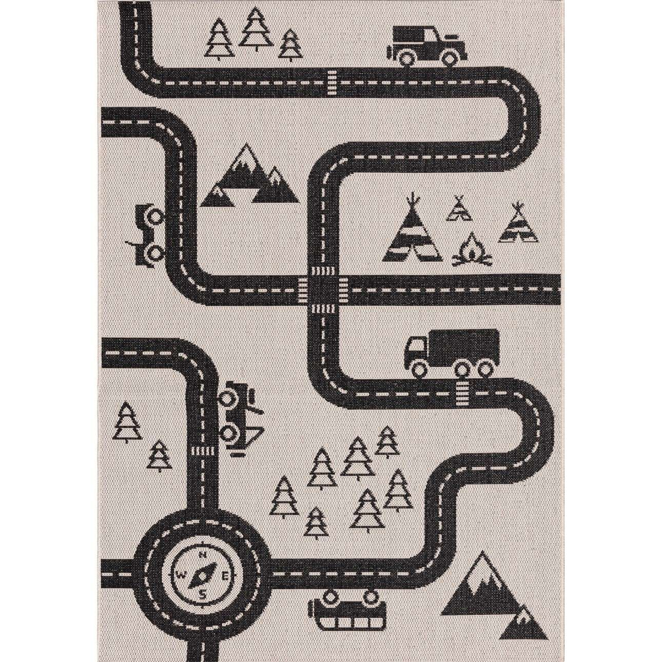 Car Road rug 120x170cm