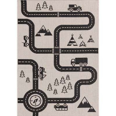 Teppich Car Road 120x170cm