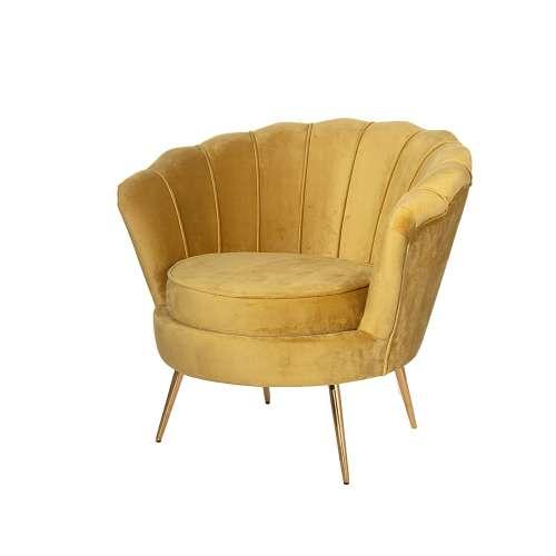 Fotel Audrey Mustard