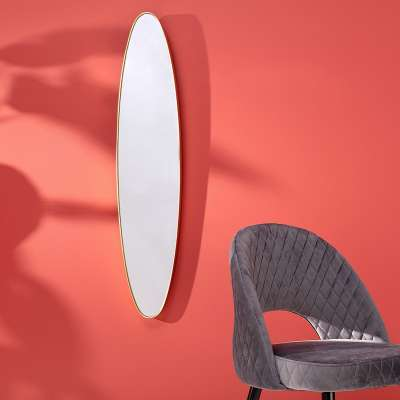 Spiegel Curve Gold 119x4x25 cm
