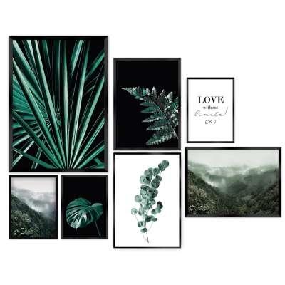 Bilder-Set Green Jungle 7 Stck. Für Männer - Dekoria.de