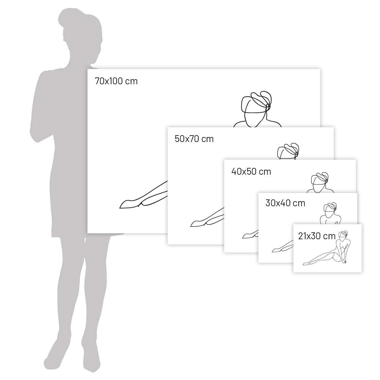Plakat Figure Line II