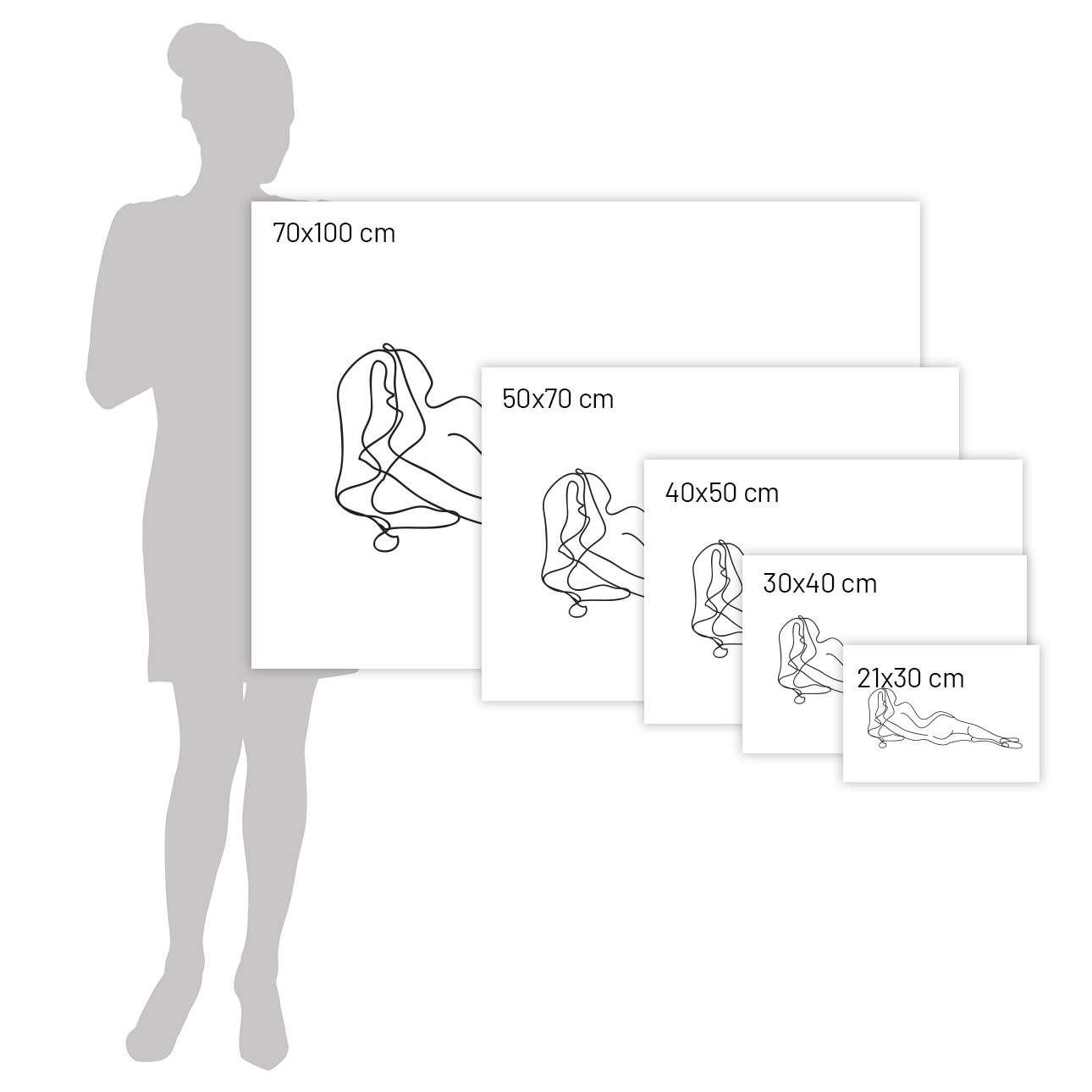 Plakat Figure Line III