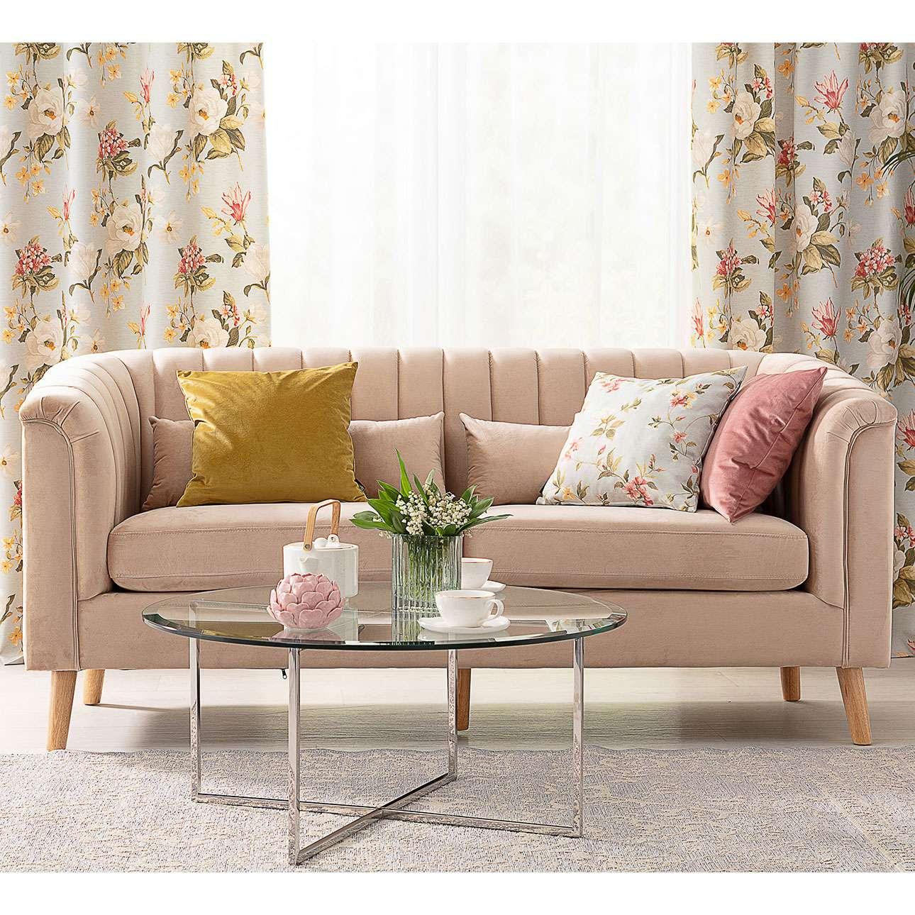 Sofa Meriva Velvet beige 3-os.