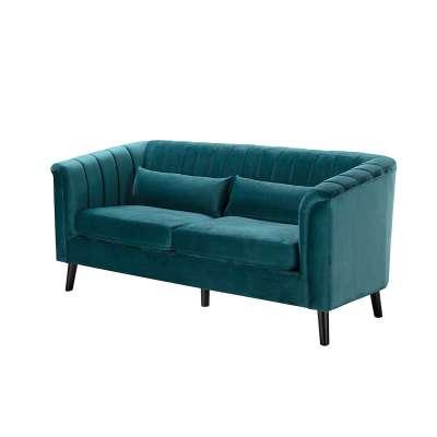 Sofa Meriva Velvet sea green 3-Sitzer