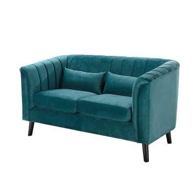 Sofa Meriva Velvet teal 2-os.