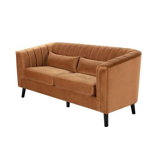 Sofa Meriva Velvet caramel 3-os.
