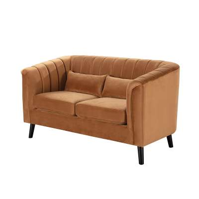 Sofa Meriva Velvet caramel 2-os.