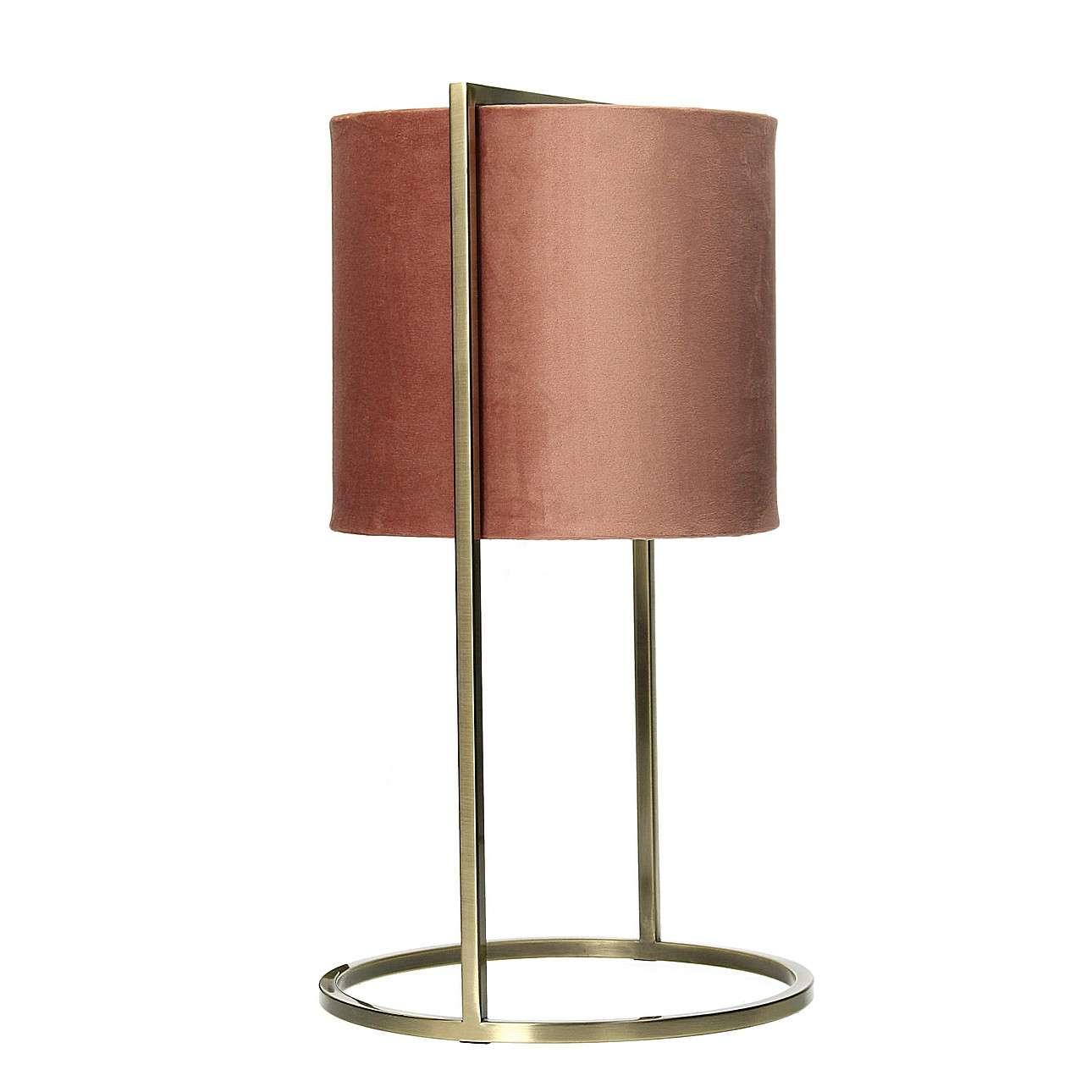 Stolní dekorační lampa Santos Pink&Gold výška 45cm
