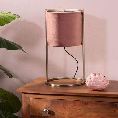 Tafellamp Santos Pink&Gold 45 cm Lampen - Dekoria.nl