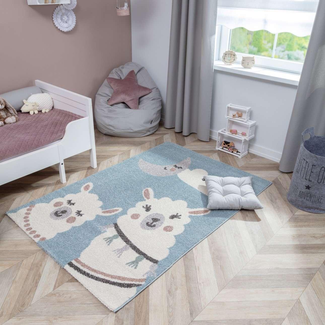 Cute llama rug 160x230cm