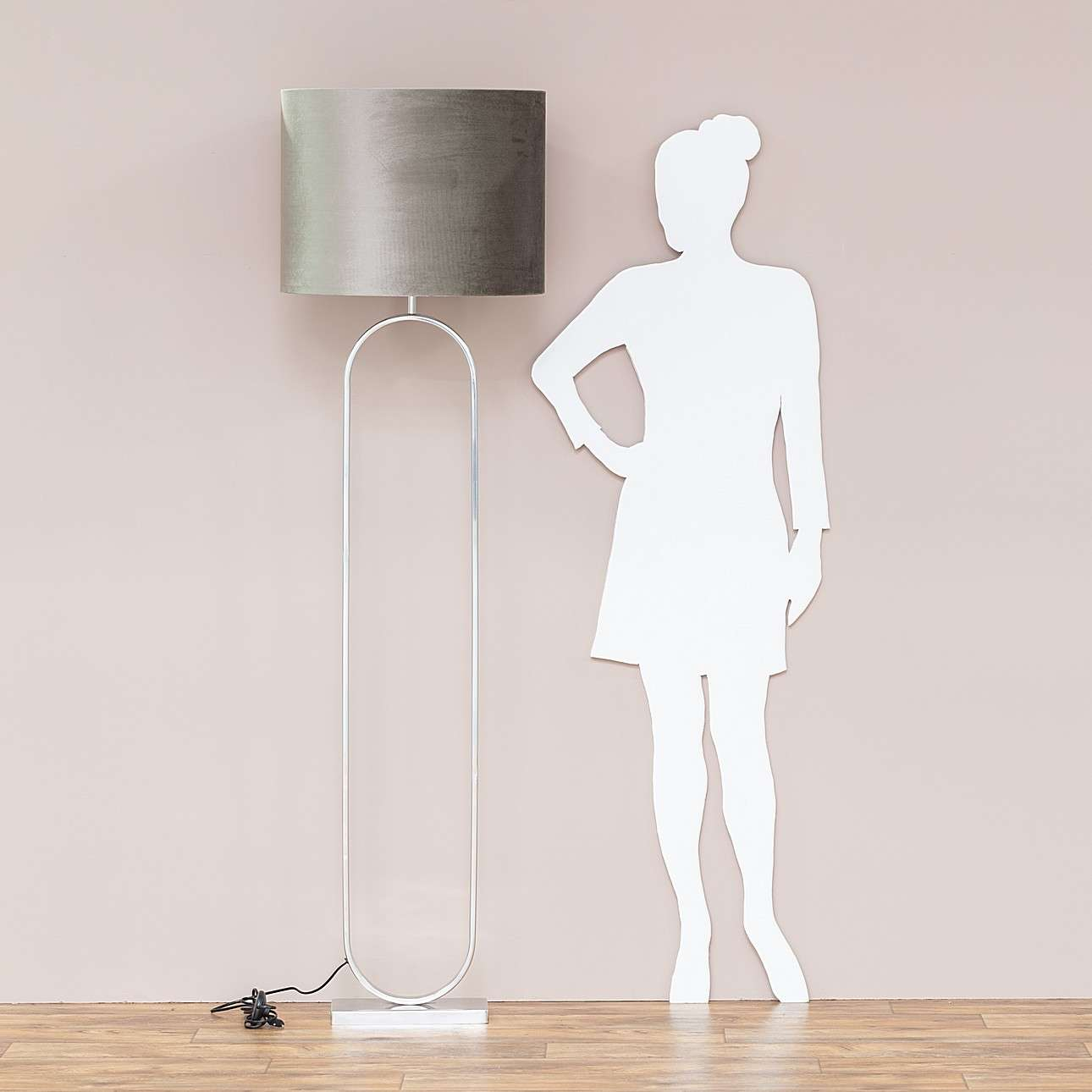 Lampa podłogowa Mira Taupe