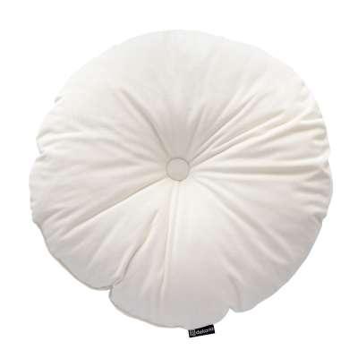 Sametový polštář Velvet kulatý s knoflíkem 704-10 smetanově bílá Kolekce Velvet