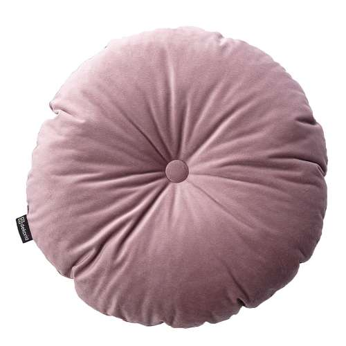 Sametový polštář Velvet kulatý s knoflíkem