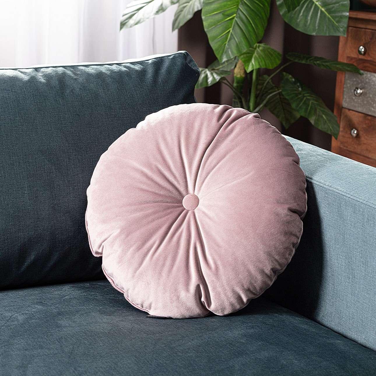 Poduszka okrągła Velvet z guzikiem w kolekcji Velvet, tkanina: 704-14