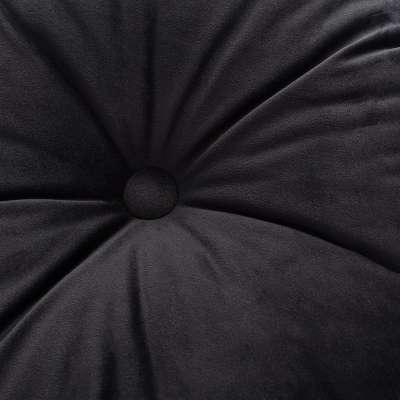 Poduszka okrągła Velvet z guzikiem 704-17 głęboka czerń Kolekcja Velvet