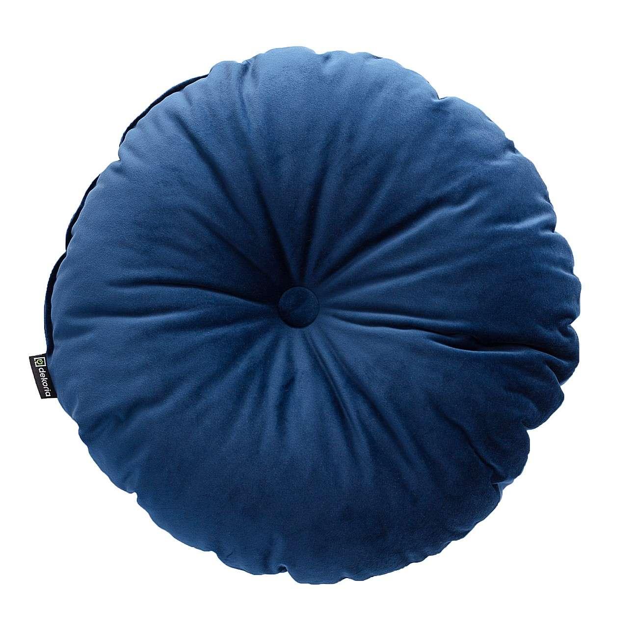 Poduszka okrągła Velvet z guzikiem w kolekcji Velvet, tkanina: 704-29
