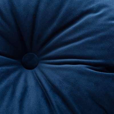 Rund velurpute 704-29 Mørkeblå Kolleksjon Velvet