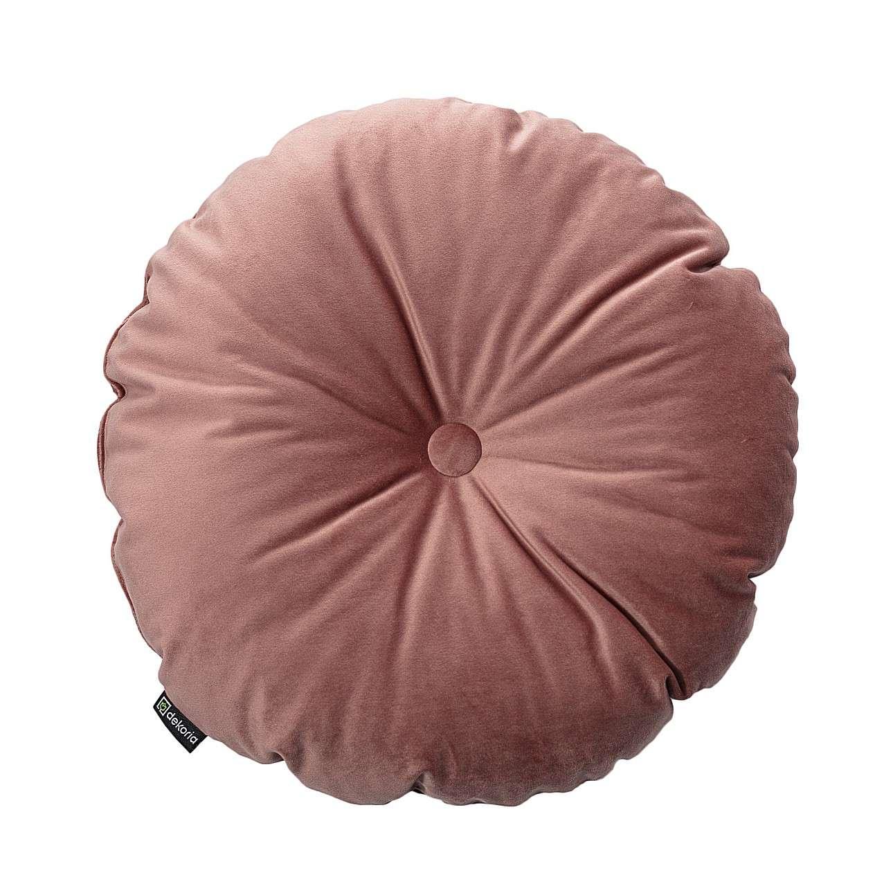 Poduszka okrągła Velvet z guzikiem w kolekcji Velvet, tkanina: 704-30