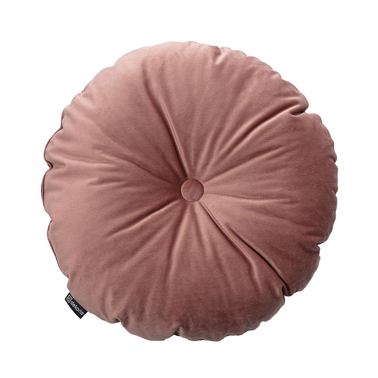 Sametový polštář Velvet kulatý s knoflíkem v kolekci Velvet, látka: 704-30