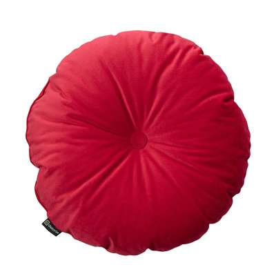 Sametový polštář Velvet kulatý s knoflíkem 704-15 sytá červená Kolekce Christmas