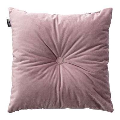 Poduszka kwadratowa Velvet z guzikiem