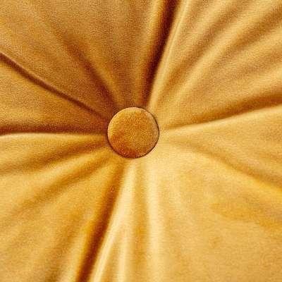 Sametový polštář Velvet s knoflíkem 704-23 medová Kolekce Velvet