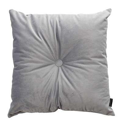 Sametový polštář Velvet s knoflíkem 704-24 stříbro-šedá Kolekce Velvet