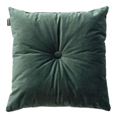 Sametový polštář Velvet s knoflíkem 704-25 tmavá lesní zeleň Kolekce Velvet