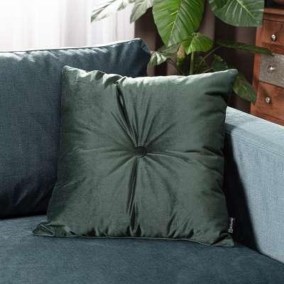 Poduszka kwadratowa Velvet z guzikiem w kolekcji Velvet, tkanina: 704-25