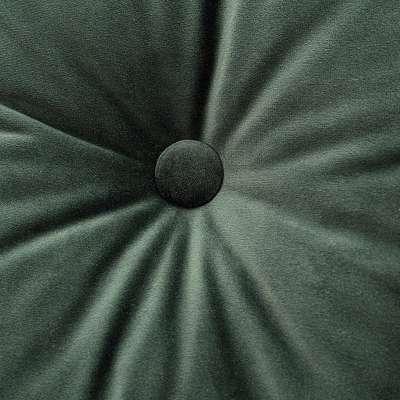 Sametový polštář Velvet s knoflíkem 704-25 tmavá lesní zeleň Kolekce Christmas