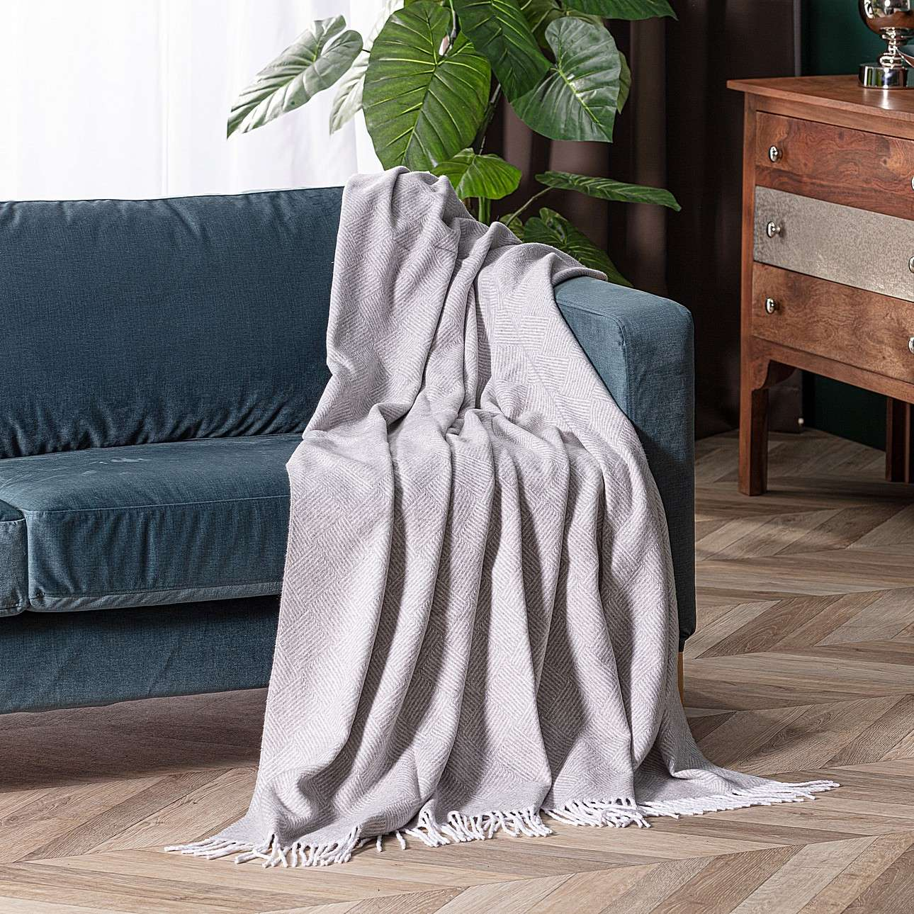 Prehoz Ibiza 140x200cm jemne sivý