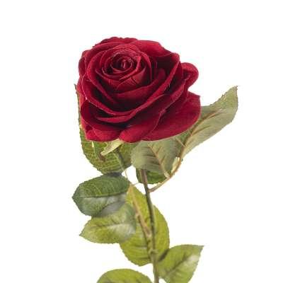 Kwiat Red Rose 67cm Sztuczne kwiaty - Dekoria.pl